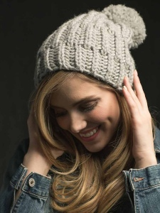 POWDER hat knitting pattern by Allison O'Mahony @kniterations.ca