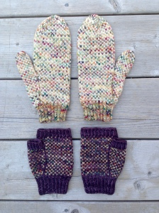 IN A FOG mitten and fingerless mitt pattern by Allison O'Mahony http://kniterations.ca
