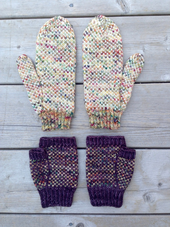 In a Fog mitten pattern by Allison O'Mahony @kniterations.ca