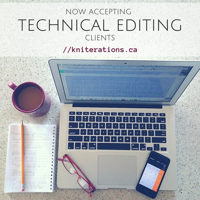 Now Accepting Tech Editing Clients - Allison O'Mahony http://kniterations.ca