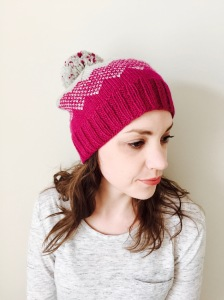 IN TRANSIT hat knitting pattern by Allison O'Mahony @kniterations.ca