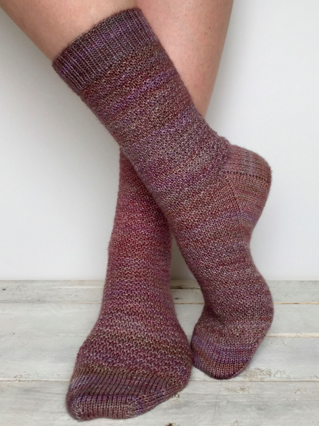 Morganite Sock Pattern by Allison O'Mahony @kniterations.ca