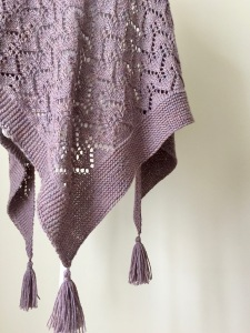 CHANCE COVE shawl knitting pattern by Allison O'Mahony @kniterations.ca