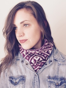 DENALI cowl pattern by Allison O'Mahony @http://kniterations.ca